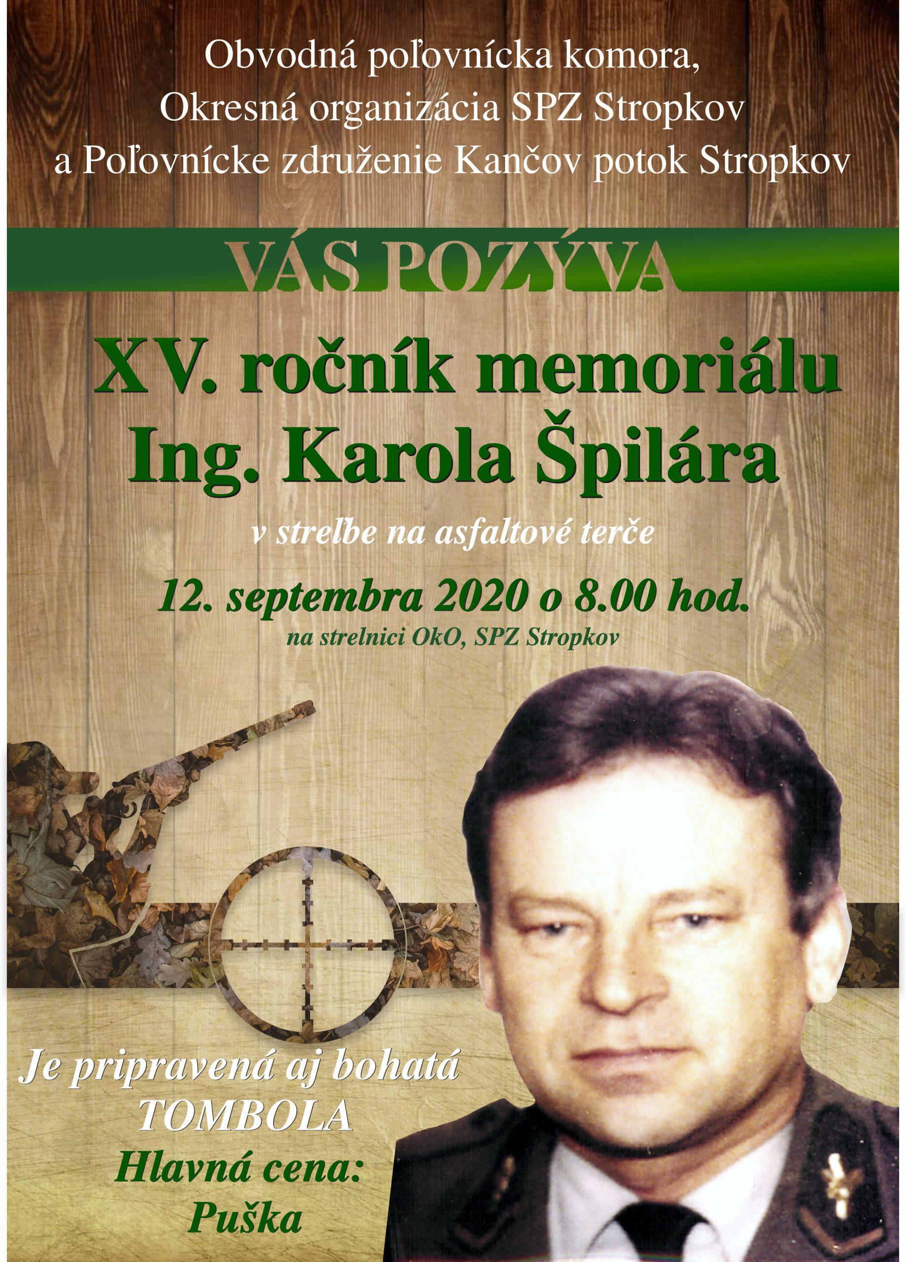 XV. ročník memoriálu Ing. Karola Špilára